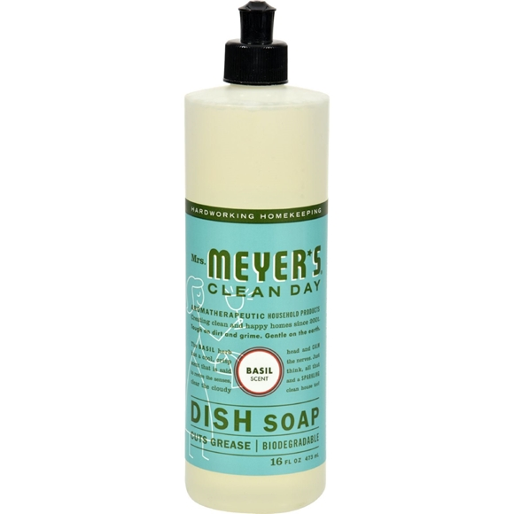Picture of Case of 6- Mrs. Meyer's Liquid Dish Soap - Basil - 16 oz