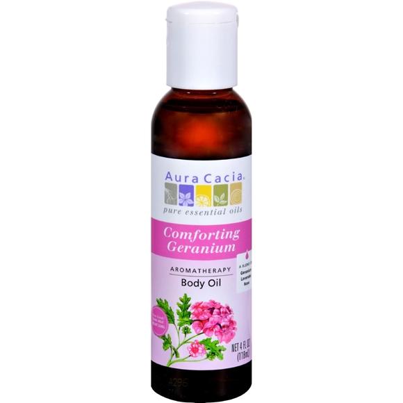 Picture of Aura Cacia Aromatherapy Body Oil Comforting Geranium - 4 fl oz