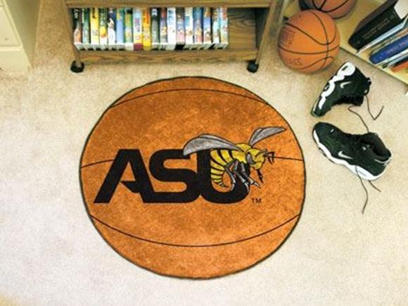 "Picture of Alabama State Basketball Mat 27"" diameter"