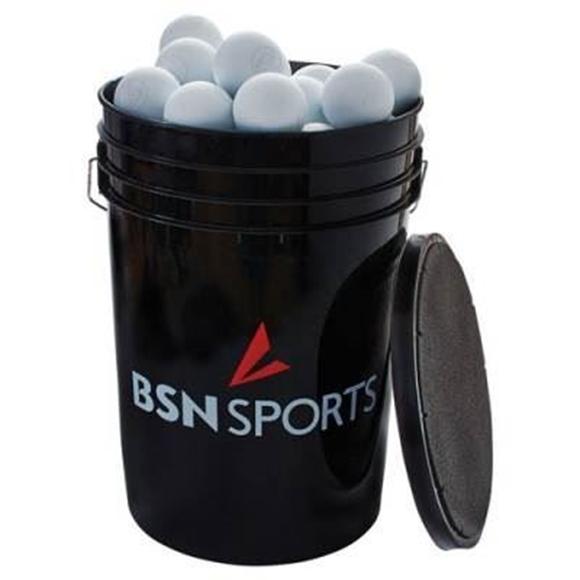 Picture of BSN SPORTS Bucket with 60 Lacrosse Balls