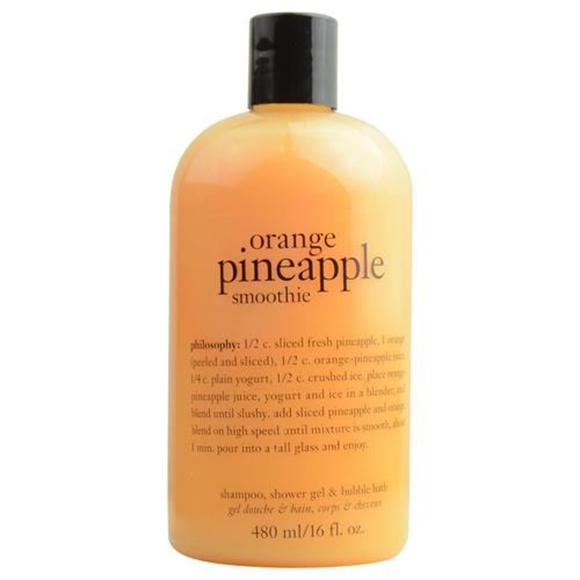 Picture of Philosophy by Philosophy Orange Pineapple Smoothie Shampoo, Shower Gel & Bubble Bath --480ml/16oz