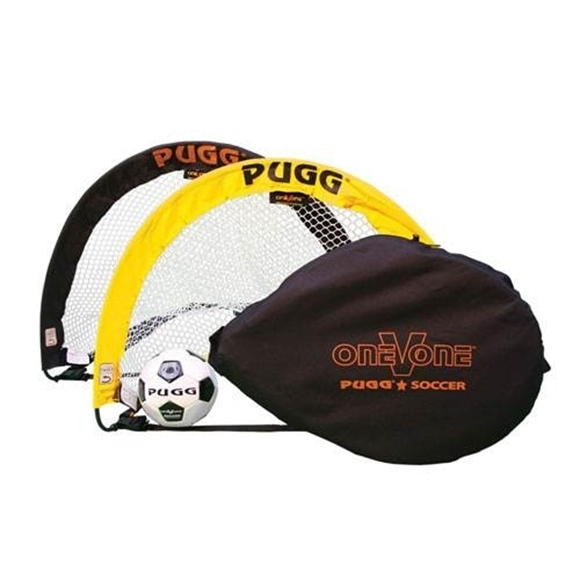 """Picture of PUGG® Soccer Goal - Yellow/Black (30""""W x 24'H x 22""""D)"""